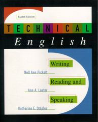 Technical English: Writing, Reading and Speaking 8th Edition 9780321003522 0321003527