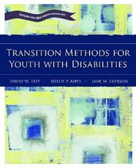 Transition Methods for Youth with Disabilities 1st edition 9780131130647 0131130641