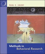 Methods in Behavioral Research 9th edition 9780073531816 0073531812