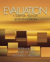 Evaluation 7th Edition 9780761908944 0761908943