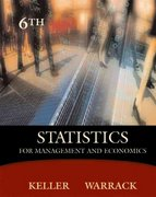 Statistics for Management and Economics (with CD-ROM and InfoTrac) 6th edition 9780534391867 0534391869