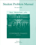 Student Problem Manual to accompany Corporate Finance 8th edition 9780073261737 0073261734