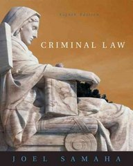 Criminal Law (with CD-ROM and InfoTrac) 8th edition 9780534629915 0534629911
