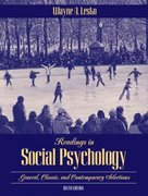 Readings in Social Psychology 6th edition 9780205454396 0205454399