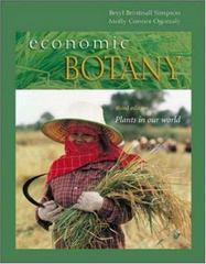 Economic Botany: Plants in our World 3rd Edition 9780072909388 0072909382