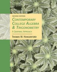 Contemporary College Algebra and Trigonometry 2nd edition 9780534466657 0534466656