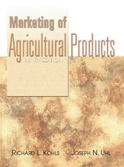 Marketing of Agricultural Products 9th Edition 9780130105844 0130105848