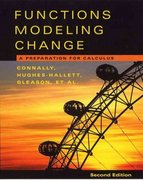 Functions Modeling Change 2nd edition 9780471456537 0471456535