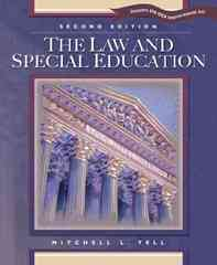 The Law and Special Education 2nd edition 9780131106703 0131106708
