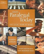 Paralegal Today: The Legal Team At Work, 4E 4th edition 9781418050115 1418050113