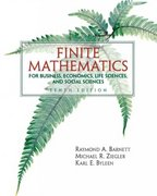 Finite Mathematics for Business Economics, Life Sciences and Social Sciences 10th edition 9780131139626 0131139622