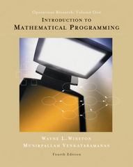 Introduction to Mathematical Programming 4th edition 9780534359645 0534359647