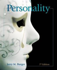 Personality 7th edition 9780495097860 0495097861