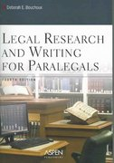 Legal Research and Writing for Paralegals 4th edition 9780735551053 0735551057