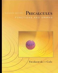 Precalculus 11th edition 9780495108375 0495108375