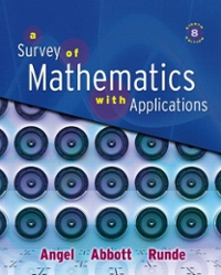 A Survey of Mathematics with Applications 8th edition 9780321501073 0321501071