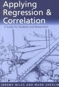 Applying Regression and Correlation 1st Edition 9780761962304 0761962301