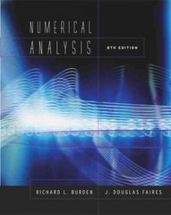Numerical Analysis 8th edition 9780534392000 0534392008