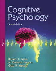 Cognitive Psychology 7th Edition 9780205410309 0205410308