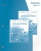 Working Papers, Chapters 1-17 for Warren/Reeve/Duchac's Accounting, 22nd 22nd edition 9780324382624 0324382626