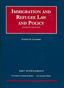 Immigration and Refugee Law and Policy Supplement 4th edition 9781599413679 1599413671