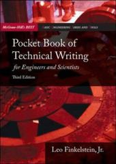 Pocket Book of Technical Writing for Engineers & Scientists 3rd Edition 9780073191591 0073191590
