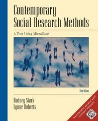 Contemporary Social Research Methods Using MicroCase, InfoTrac Version (with Workbook and Revised CD-ROM) 3rd edition 9780534581893 0534581897