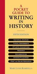 A Pocket Guide to Writing in History by Mary Lynn Rampolla (2012, Paperback)