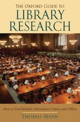 The Oxford Guide to Library Research 3rd Edition 9780195189988 0195189981