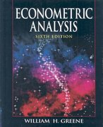 Econometric Analysis 6th edition 9780135132456 0135132452
