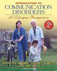 Introduction to Communication Disorders 3rd Edition 9780205487875 0205487874