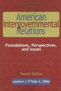 American Intergovernmental Relations, 4th Edition 4th edition 9780872893078 0872893073