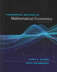 Fundamental Methods of Mathematical Economics 4th edition 9780070109100 0070109109