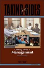 Taking Sides: Clashing Views in Management 2nd edition 9780073527215 0073527211