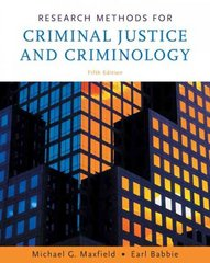 Research Methods for Criminal Justice and Criminology 5th edition 9780495094760 0495094765