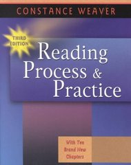 Reading Process and Practice 3rd edition 9780325003771 0325003777