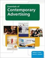 Essentials of Contemporary Advertising 1st edition 9780073136660 0073136662