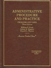 Administrative Procedure and Practice 3rd edition 9780314155177 0314155171