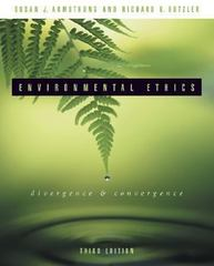 Environmental Ethics 3rd Edition 9780072838459 0072838450