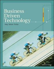 Business Driven Technology 2nd edition 9780073123684 0073123684