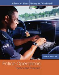 Police Operations 4th edition 9780534632229 053463222X