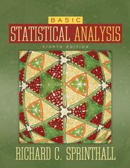 Basic Statistical Analysis 8th edition 9780205495979 0205495974