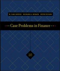 Case Problems in Finance 12th edition 9780072945515 0072945516