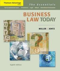 Cengage Advantage Books: Business Law Today 8th edition 9780324654547 0324654545