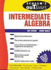 Schaum's Outline of Theory and Problems of Intermediate Algebra 1st edition 9780070608399 0070608393