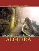 Beginning and Intermediate Algebra 3rd edition 9780321127150 0321127153