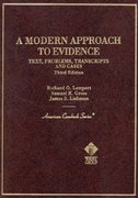 A Modern Approach to Evidence 3rd edition 9780314067722 0314067728