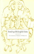 Reading Old English Texts 0 9780521469708 0521469708