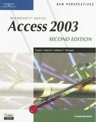 New Perspectives on Microsoft Office Access 2003, Comprehensive, Second Edition 2nd edition 9780619268114 0619268115
