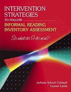 Intervention Strategies to Follow Informal Reading Inventory Assessment 1st Edition 9780205405589 0205405584